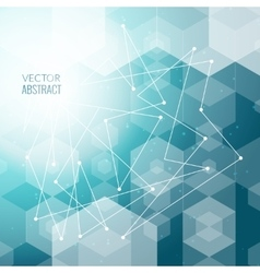 3d abstract business background with triangles vector