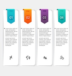 Abstract 3d digital infographic can be used vector