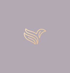 abstract bird logo design premium linear dove vector image