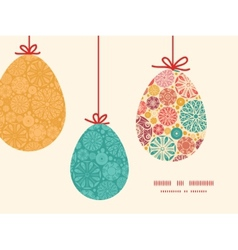 Abstract decorative circles hanging Easter vector