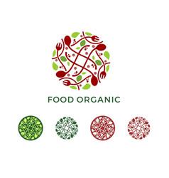 abstract food organic logo vector image