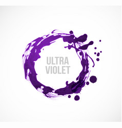 Abstract ultraviolet purple grunge cricle on white vector