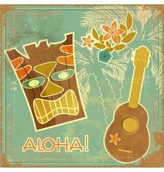 Aloha card vector