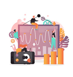 analyst services concept for web banner vector image