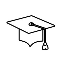 back to school education graduation hat accessory vector image