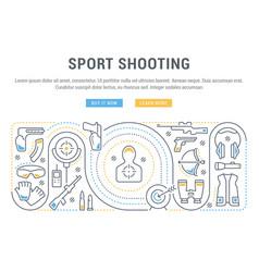 banner sport shooting vector image