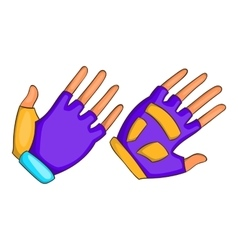 Bike gloves icon cartoon style vector
