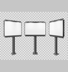 billboard blank big advertisement construction vector image