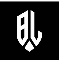 bl logo monogram with emblem shield style design vector image