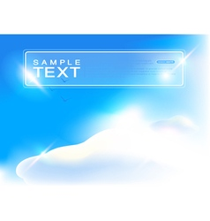 Blue sky art vector
