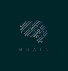 brain logo design inspiration vector image