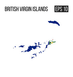 British virgin island map border with flag eps10 vector