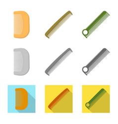 Brush and hair symbol vector