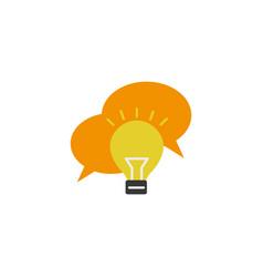 Bulb message idea icon flat style vector