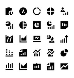 Business charts and diagrams solid icons 2 vector