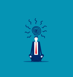 Business people work until dizzy business office vector