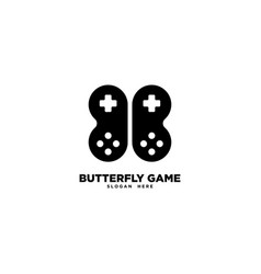 Butterfly game logo template vector