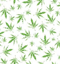 cannabis vector pattern vector image