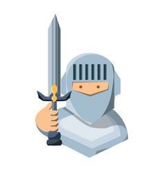cartoon knight icon vector image