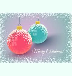 christmas balls and snow vector image