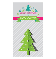 Christmas Tree and New Year Background vector image