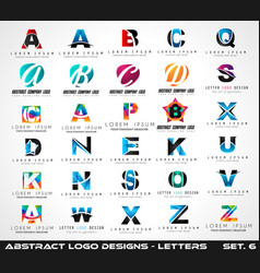 Collection of creative logo letter designs for vector