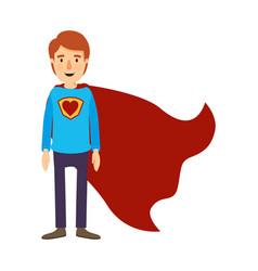 colorful image caricature full body super guy hero vector image