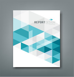Cover report triangle geometry abstract blue vector image