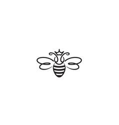 Creative bee queen abstract logo design vector