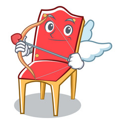 Cupid chair character cartoon collection vector