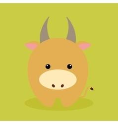 Cute Cartoon cow vector