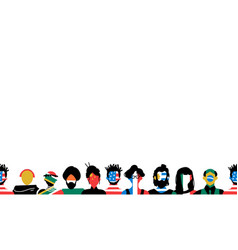 Diverse people background with country flag vector