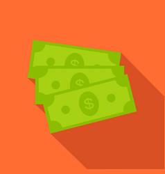 Dollar bills icon in flat style vector