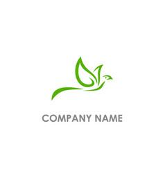 dove bird fly logo vector image