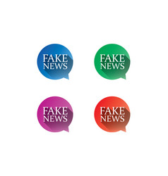 fake news bubble set vector image