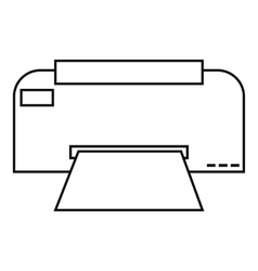 Fax icon outline style vector