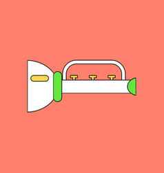 Flat icon design collection children trumpet vector