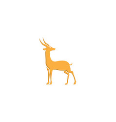 Gazelle antelope gold goat stand isolated vector