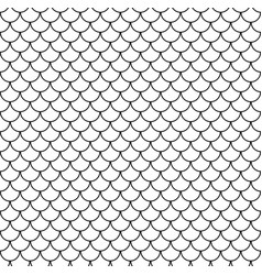Geometric fish scales chinese seamless pattern vector