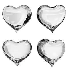 Gray hearts vector
