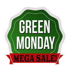 Green monday label or sticker vector
