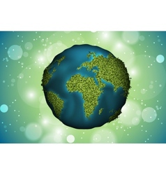 green planet grass vector image