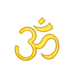 Hindu om symbol icon cartoon style vector