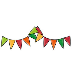 Isolated cute party flags vector