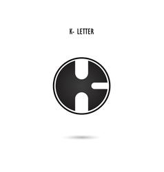 K-letter abstract logo vector