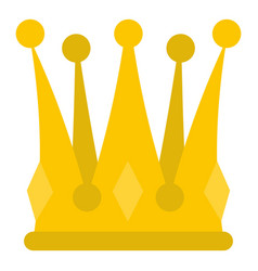 Kingly crown icon isolated vector