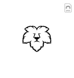 Lion face leaf nature logo template icon element vector
