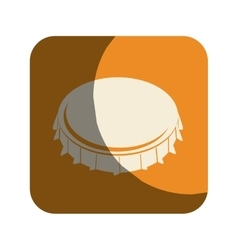 Metal cap drink isolated icon vector