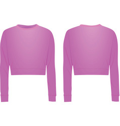 Pink crop sweater vector