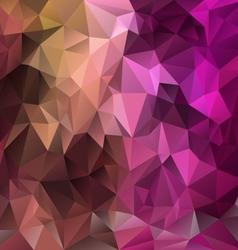 Pink purple brown polygonal triangular pattern vector